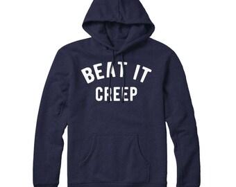 Beat It Creep, Go Away, Feminist, Feminism, Rockabilly, Pastel Goth, Crybaby, Soft Grunge, Hoodie, Hooded Sweatshirt