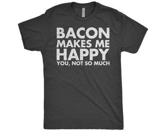 Bacon Lover Gift, Bacon Shirt, Best Friend, Boyfriend, Brunch Shirts, Birthday Gift, Next Level Apparel Tri-Blend T-Shirt
