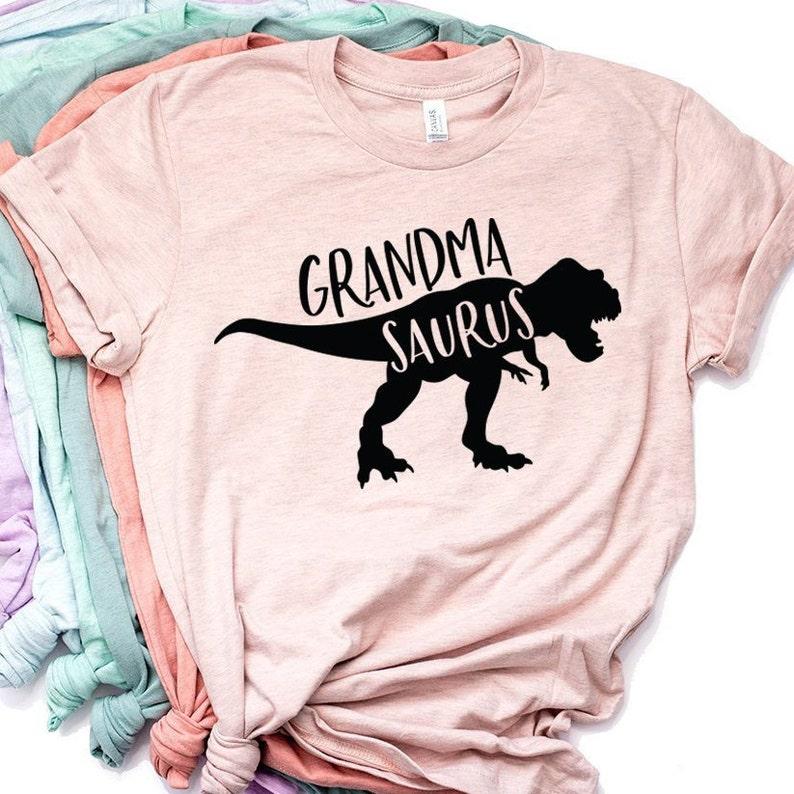 Grandma Shirt Gift Grandmasaurus Dinosaur Birthday