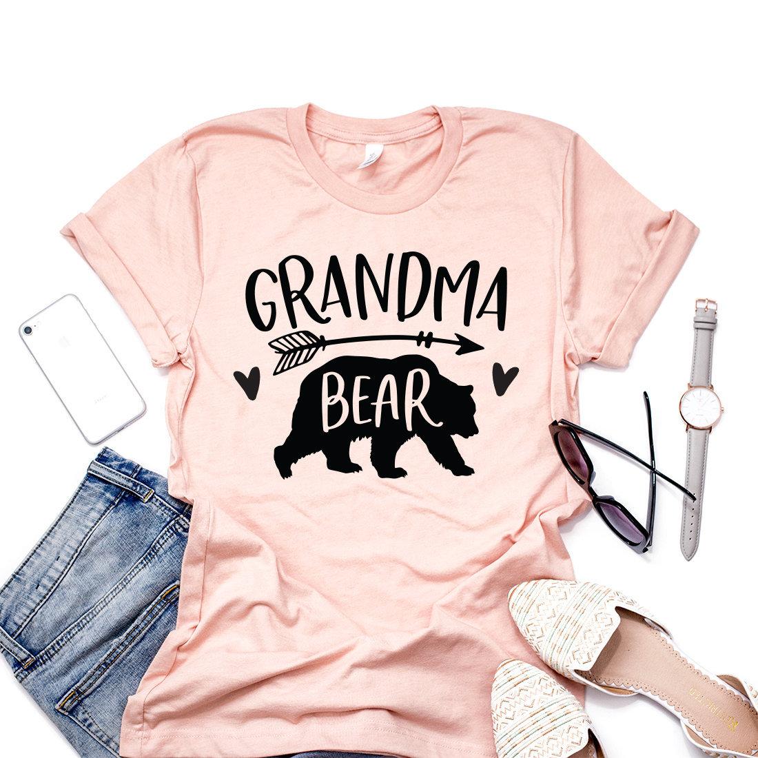 b246df8e4e208 Grandma Bear Shirt Gift For Nana Mothers Day Abuela Shirt | Etsy