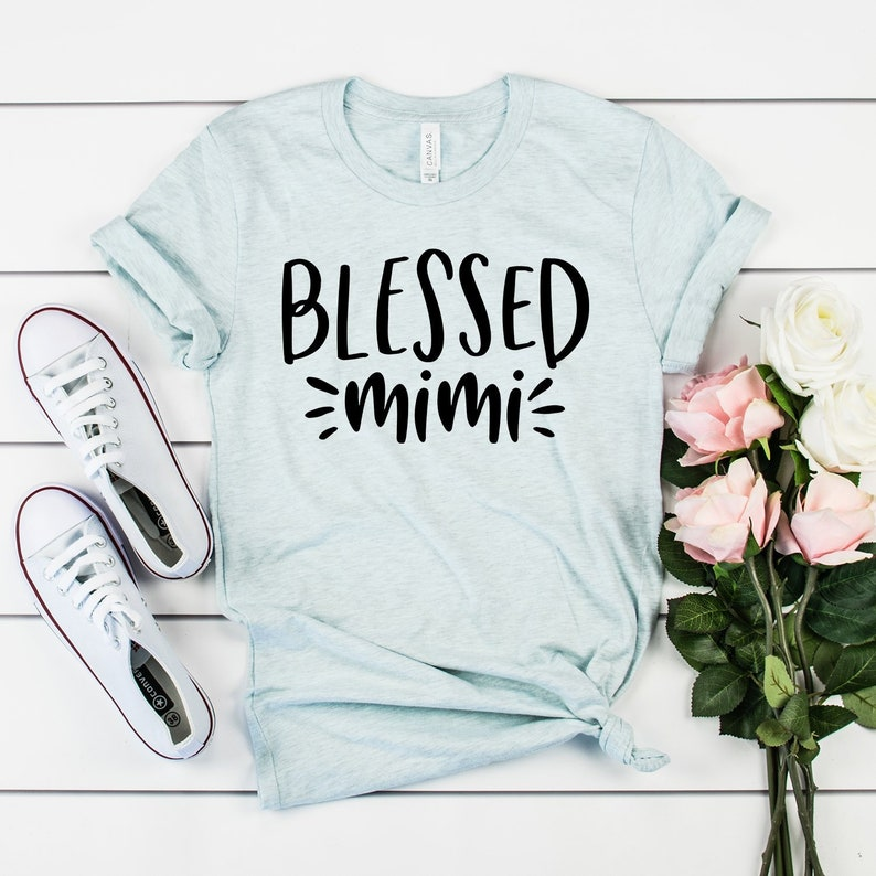 Blessed Mimi Shirt Grandma Life Gifts New To
