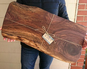 Extra Large Charcuterie Board - Live Edge Serving Board - Personalized Housewarming Gift - Custom Wooden Wedding Gift