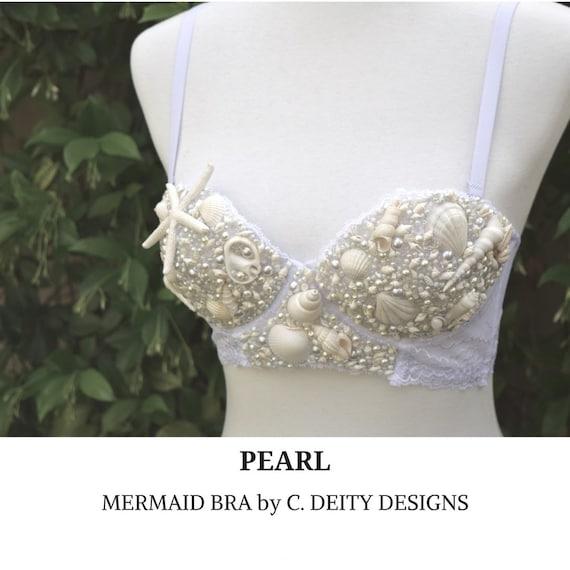 Mermaid Bra Festival Bra Rave Bra Premade 36B* WATERFIRE *Ready 2 Ship*