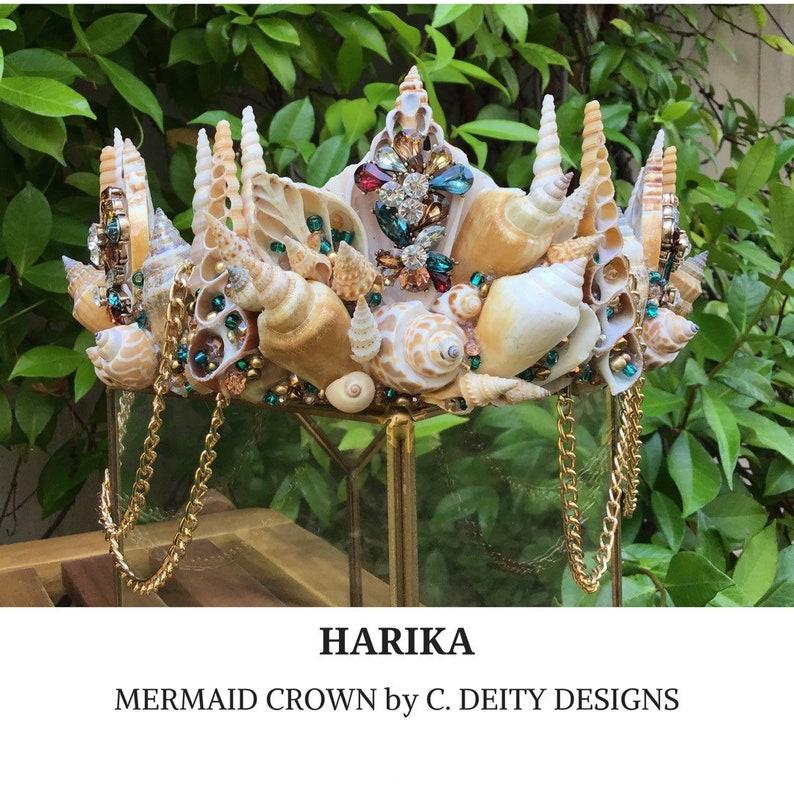 HARIKA Mermaid Costume Mermaid Hairpiece Adult Mermaid Crown Seashell Crown