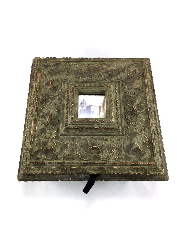 Victorian Casketjewellery Box With Picture Frame In Lid Etsy