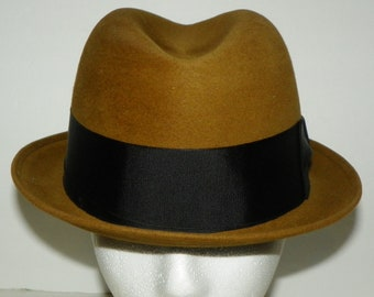 31279531eb2 Vintage Brown Felt Champ Fedora Hat Kasmir Finish