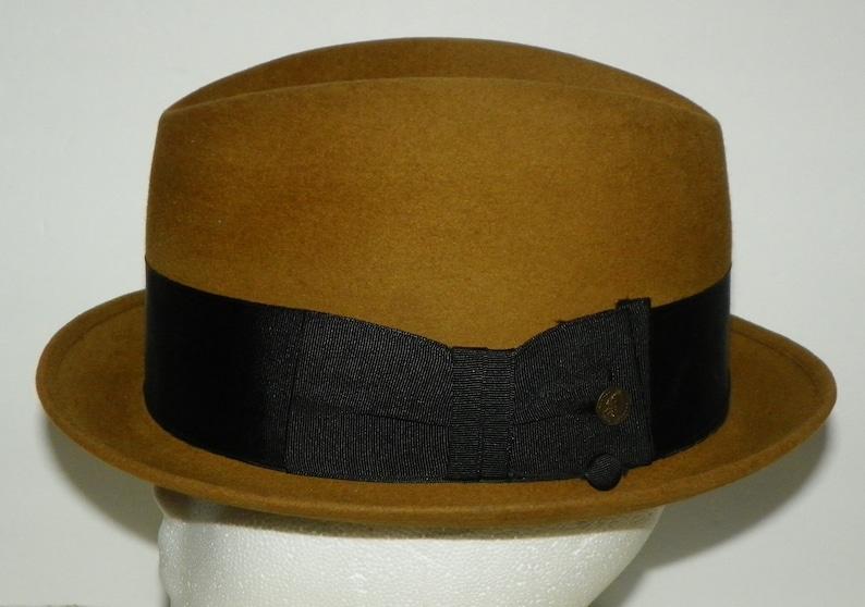 7b219be8ee1148 Vintage Brown Felt Champ Fedora Hat Kasmir Finish Feel | Etsy