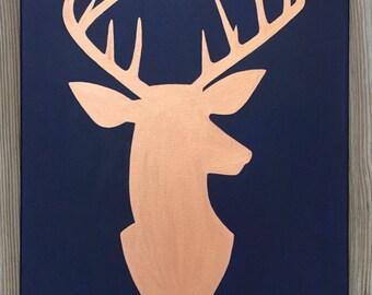 Metallic Deer Silhouette Painting