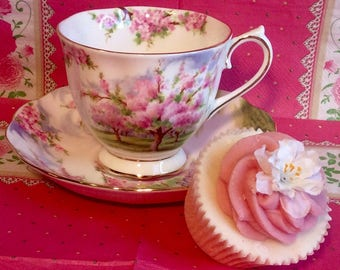 Pretty In Pink-Royal Albert Blossom Time Teacup and Saucer