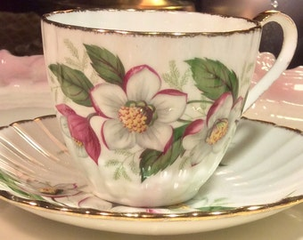 Pretty Pink Addiction-Jason Bone China Teacup and Saucer