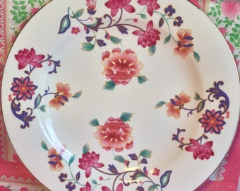 Pretty in Pink Royal Vale 10.5 Inch Floral Plate