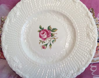 Pretty in Pink Royal Cauldon Old Chester Cabinet Plate