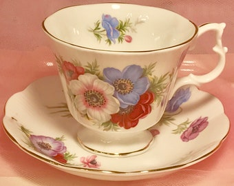 Pretty In Pink- Royal Albert Pedestal Teacup and Saucer
