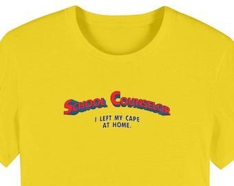 Super School Counselor Premium Organic Adult T-Shirt Counselor Hero Counseling Department Gift Super Hero Superman Unisex Shirt