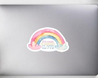 Rainbow Sticker SEL Counselor Laptop Sticker for Educators Vinyl Durable Sticker Positive Kiss Cut Encouraging Support Sticker