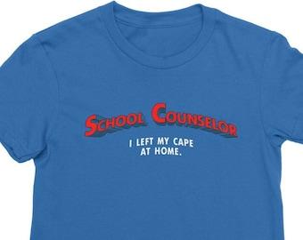 Super School Counselor Premium Jersey Women's T-Shirt Counselor Hero Counseling Department Gift Super Hero Superman Women's Shirt