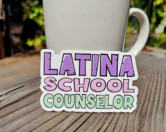LATINA School Counselor Vinyl Sticker Bubble-free sticker laptop sticker window sticker counseling gift