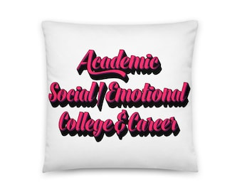 School Counselor | School Counseling | 3 Domains - Square Pillow