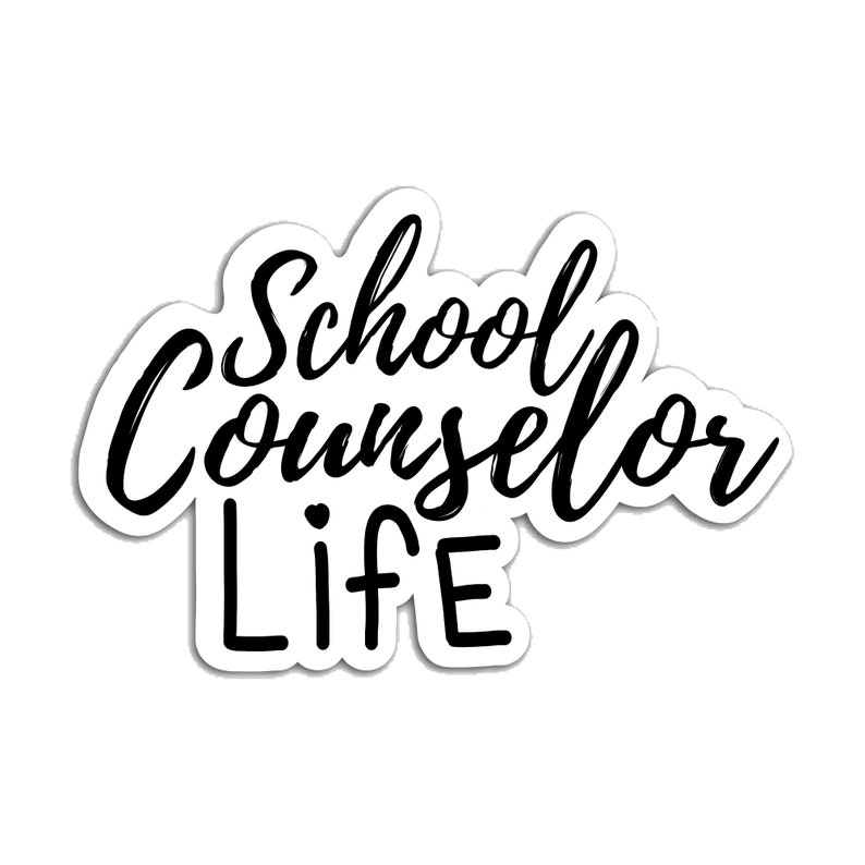 Vinyl school counselor sticker phone laptop quote statement image 0