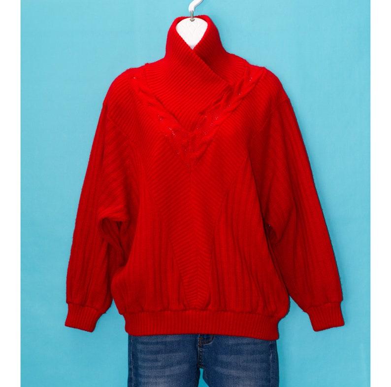 Medium Vintage 1980s Red Sweater