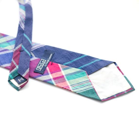 Vintage 1980s Polo Ralph Lauren Plaid Necktie - image 4