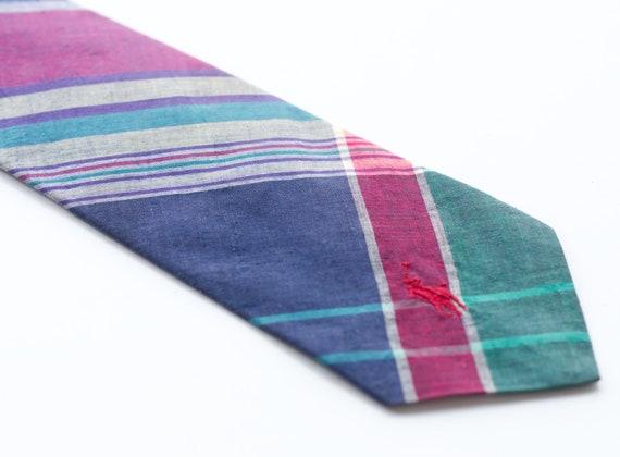 Vintage 1980s Polo Ralph Lauren Plaid Necktie - image 3