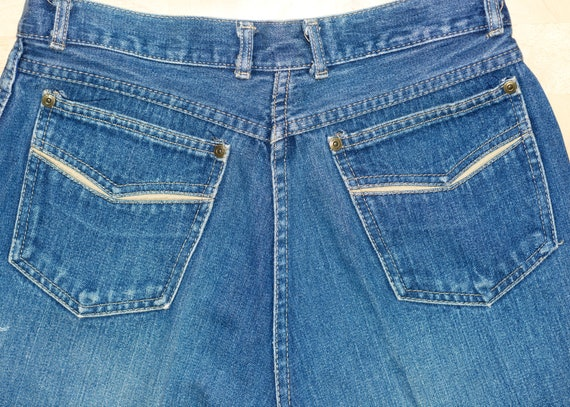 Vintage 1970s Grapevines Jeans   70s High-Waisted