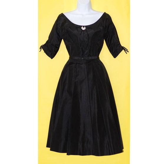 Vintage 1950s Suzy Perette Black Cocktail Dress |