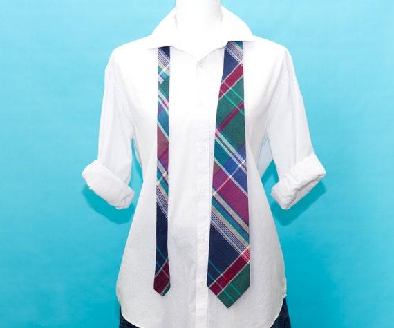 Vintage 1980s Polo Ralph Lauren Plaid Necktie - image 2