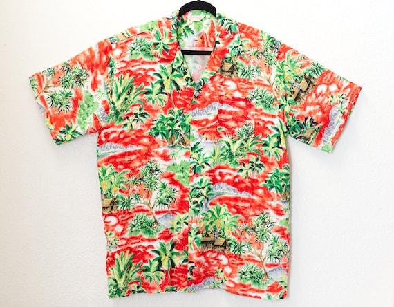 Vintage 1950s Carlton Aloha Shirt | 50s Hawaiian S