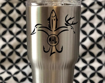 Hunting & Fishing Decal // Cup Decal // Tumbler Decal // Yeti Decal // Hunting Decal // Fishing Decal // Sportsman Decal // Free Shipping
