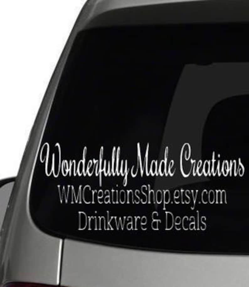 38acbaaab6 Small Business Decal    Etsy Seller Car Decal    Car Decal