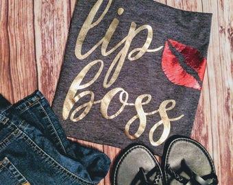 Lip Boss T-shirt | Beauty Consultant Tee | Lip Business Shirt | Lipsense | Lips Rep | Lipstick Boss | Lipstick Lady | Lipstick Rep