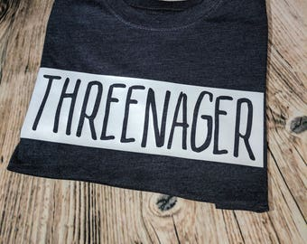 THREENAGER -  Tee for Kids | Three Year TShirt