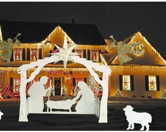outdoor nativity set large