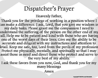 picture relating to Prayer Rock Printable identified as Dispatcher prayer Etsy