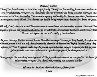 Wedding Blessing Prayer Digital Print Marriage Prayer | Etsy