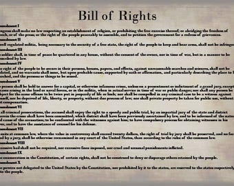 photo about Bill of Rights Printable named Invoice of Legal rights Poster Print Consution Print Invoice of Etsy
