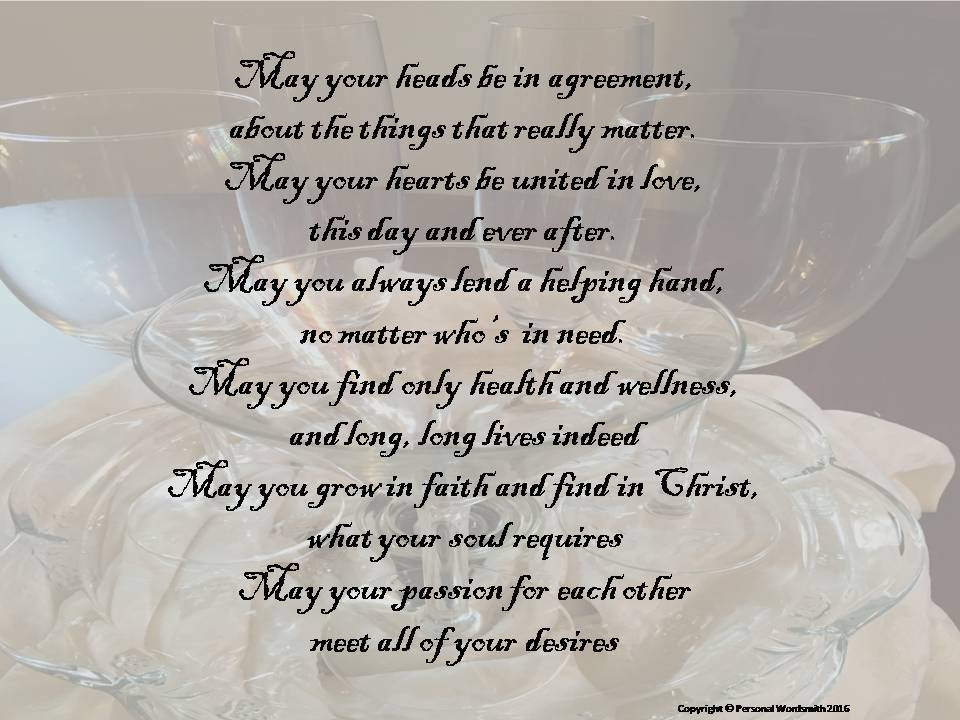 A Wedding Blessing Toast Digital Print Downloadable Marriage Etsy