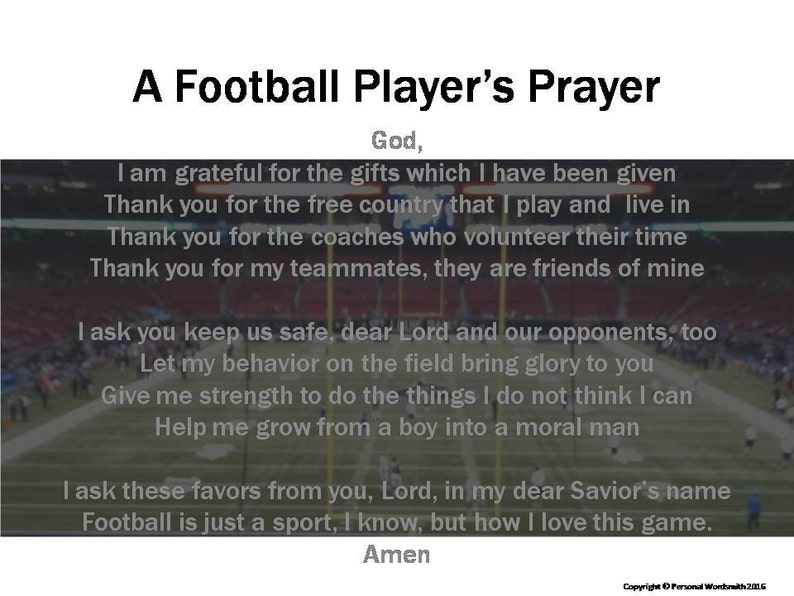 photograph relating to Moms in Prayer Prayer Sheets identified as Soccer Prayer, Soccer Gamers Prayer, Athletes Prayer. Printable Prayer for Soccer, Soccer Poem Obtain, Athletic Prayer Print