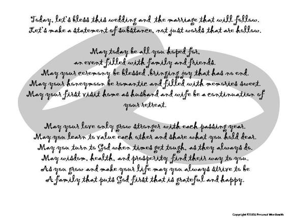 A Wedding Blessing Digital Print Marriage Poem Download Love Poetry Digital Print Wall Art Poetic Verse Marriage Blessing Print