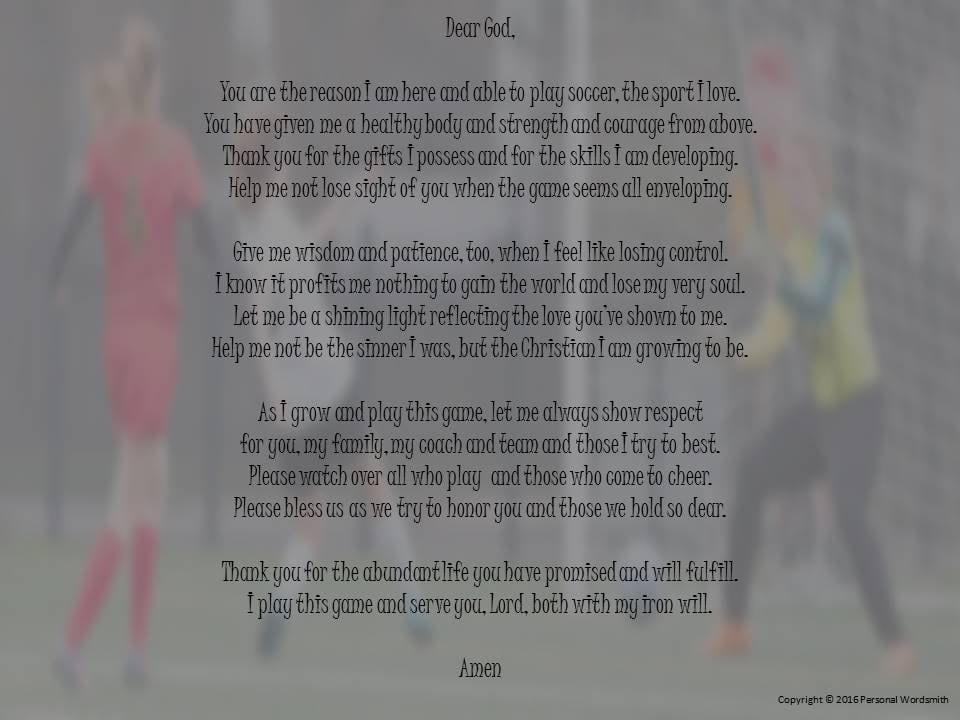 soccer prayer digital print downloadable soccer player s etsy