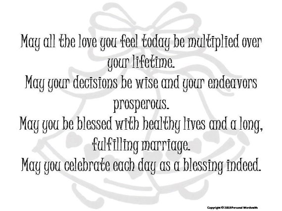 Marriage Blessing Toast Digital Print, Downloadable Wedding Prayer, Best  Wishes to the Lucky Couple Toast, Wedding Reception Toast Blessing