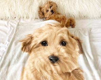 Custom Pet Portrait Blanket, Dog Custom Blanket, Pet Blanket, Mother Gift Idea, Custom Blanket, Personalized Blanket, Dog Lover Gift