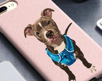 Custom phone Case, pet phone pase, hand-drawn eco-friendly, iPhone Case, Iphone Xs case, iPhone X case, iPhone 11 case, eco friendly case