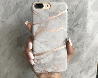 iphone 7 case etsyrose marble phone case, rose gold reflective,iphone 6 case, iphone 7 case, iphone 8 case, iphone 7 plus case, iphone x case, iphone 8 plus