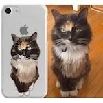 Custom illustrated Cat iPhone Case, Hand Drawn Cats iPhone Case, Image illustration, Iphone 6s case, iPhone 7 case, iPhone 7 plus case