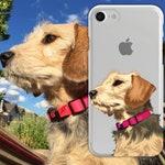 Custom Dog Illustrated Phone Case, gift for dog lover, dog gift ideas, Custom Pet Portrait, Fiance Gift , Pet Illustration, dog loss gift