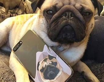 Unique Pet Gift - Custom Hand-Drawn Phone Case, Iphone 6s case, iPhone 7 case, iPhone 11 case, iPhone X case, iPhone 11 case, iPhone case