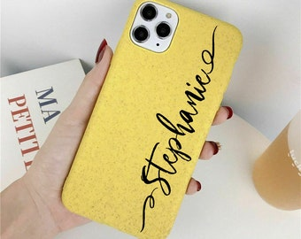Custom Eco-friendly, Personalized iPhone Case, Name, Xs case, iPhone X case, iPhone 11, eco friendly case, wheat phone case, biodegradable
